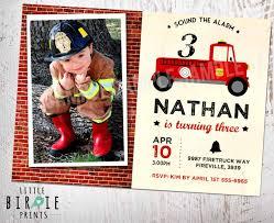 100 Fire Truck Birthday Party Invitations FIRETRUCK INVITATION Vintage Truck Pary Etsy
