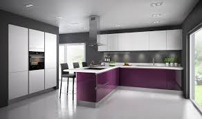 meuble cuisine complet une cuisine aubergine pour ambiance chic milan de cuisine et modèle