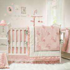 the peanut shell baby crib bedding set pink and white