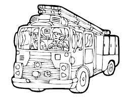 100 Fire Truck Drawing Truck 5 Transportation Printable Coloring Pages