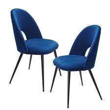 esszimmerstuhl 2er set samt blau küchenstuhl mit schwarzen beinen b h