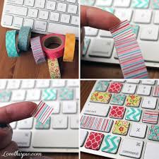 Cute Diy Keyboard Keys Girly Colorful Girl Creative Intended For Craft Ideas