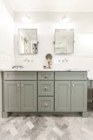 Tall White Shaker Style Bathroom Cabinet Freestanding by Grey Shaker Style Bath Vanity With Carrara Marble Counter Top As