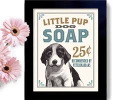 Laundry Room Decor Dog Art Puppy Sign Wall Print Washing Machine Soap Dirty