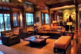 Rustic Modern Mountain Retreat Contemporary Living Room