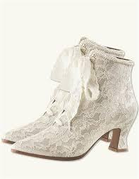 Vintage Wedding Shoes Flats Boots Heels Victorian Lace 6995 AT Vintagedancer