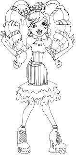Draculaura Sweet Screams Monster High Coloring Page