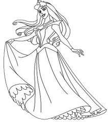 Night Gown For Disney Princesses Coloring Pages