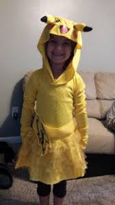 Halloween Costumes Memoirs Of A by Pokemon Girls Pikachu Hoodie Dress Small Walmart Com