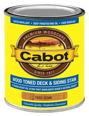 Cabot Samuel Wood Toned Deck and Siding Stain - Cedar, 1qt