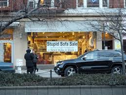 Stupid Sofa Sale Sign