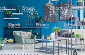 grüne und blaue wohnzimmer stockfoto und mehr bilder blau