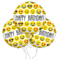 Amazon Happy Birthday Emoji Mylar Balloon 3 Pack Kitchen