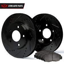 100 Truck Accessories Orlando 14 Chevrolet Black Slot Drill Rotor Metallic Pads F EBay