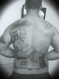 Fan Gets Floyd Mayweather Back Tattoo Photo