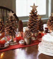 Pine Cone Christmas Table Decorations