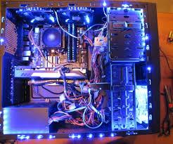 custom desktop computer lighting 3 steps