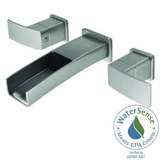 pfister kenzo 2 handle wall mount bathroom faucet in brushed