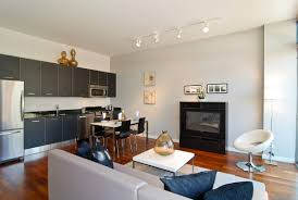 Kitchen Track Lighting Ideas Pictures by Kitchen Calm Lighting Design For Open Kitchen Living Room With