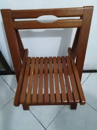 Foldable Wooden Chair, Furniture, Tables & Chairs On Carousell