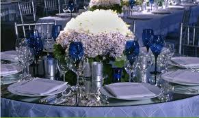 Awesome Silver And Blue Wedding Decorations Decoration