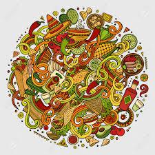 bac cuisine doodles food illustration colorful