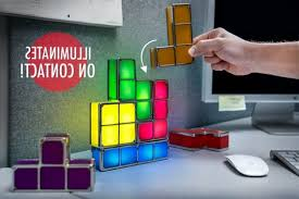 Tetris Stackable Led Desk Lamp Ebay by Tetris Light Pieces Illuminate On Contact Regarding Attractive