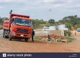 Truck In Small Town Village Of Mumbwa, Zambia On The Great West Road ...