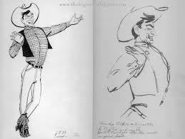 Original Big Tex Sketches
