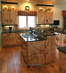Wood Cabinets With Floors Natural Kitchen Light Maple Dark