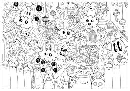 Cartoon Totoro Coloriage Pour Adulte à Imprimer Chocobo Artherapieca