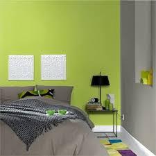 chambre ado grise et verte mobilier décoration