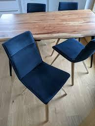 xooon designer stuhl 4 stück esszimmer stühle sessel dunkelblau