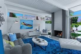 einrichten mit grau blau und weiß frisch und modern