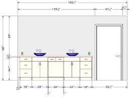 installer meuble salle de bain avec hauteur lavabo norme chaios