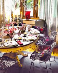 Simple Kitchen Table Centerpiece Ideas by Dining Room Festive Christmas Dinner Table Decorating Ideas To