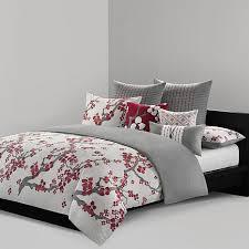 N Natori Cherry Blossom King Duvet Cover Mini Set
