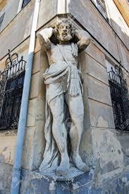 100 Atlant Statue Nitra Slovak Republic Atlas Supports The Building
