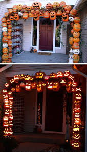 Glow In The Dark Plastic Pumpkins by 50 Best Diy Halloween Outdoor Decorations For 2017