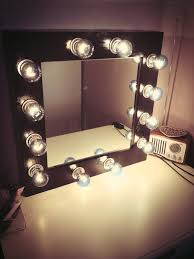 great light bulb vanity mirror with bulbs around it rectangle
