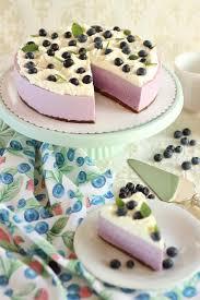 sommerliche no bake blaubeertorte mit quark joghurt creme und sahne