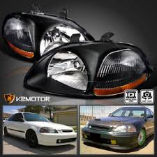jdm black 1996 1998 honda civic dx ex lx replacement headlights