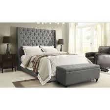 King Platform Bed With Upholstered Headboard by Park Avenue Gray King Platform Bed El Dorado Furniture