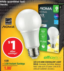 canadian tire noma 60w equivalent led light bulb 1 after coupon