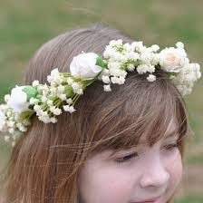 Something so simple about a rose and babies breath floral crown
