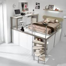 Diy Queen Loft Bed by Small Spaces 3 Bed Bunk Beds Tumidei Ikea Loft Bed
