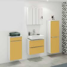 möbel badezimmer in gelb mit weiß nadrado 4 teilig