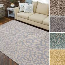 Hand tufted Jungle Animal Print Wool Area Rug 8feet x 11feet