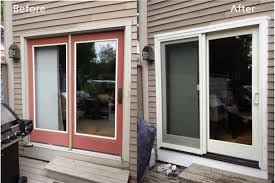 Anderson Outswing French Patio Doors by Before And After Window Replacements Renewal By Andersen Maine
