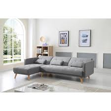 canape d angle bois scandinave gris clair canape d angle convertible reversible